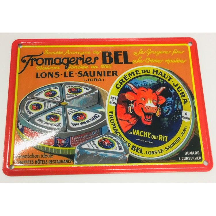 Carte métallique Fromageries Bel®