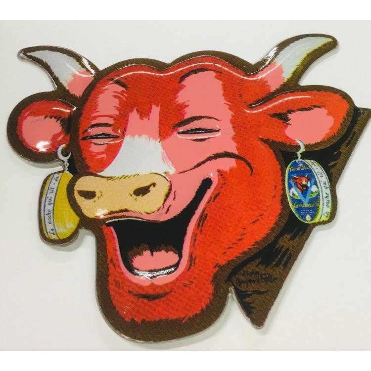 Plaque métal embossé La vache qui rit®