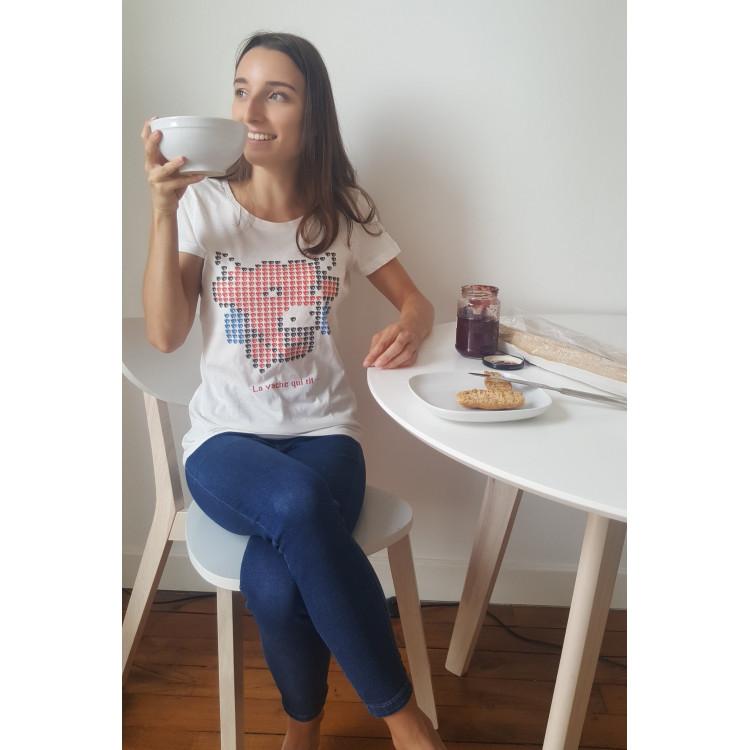 Tee-shirt FEMME La vache qui rit® Pixelisé