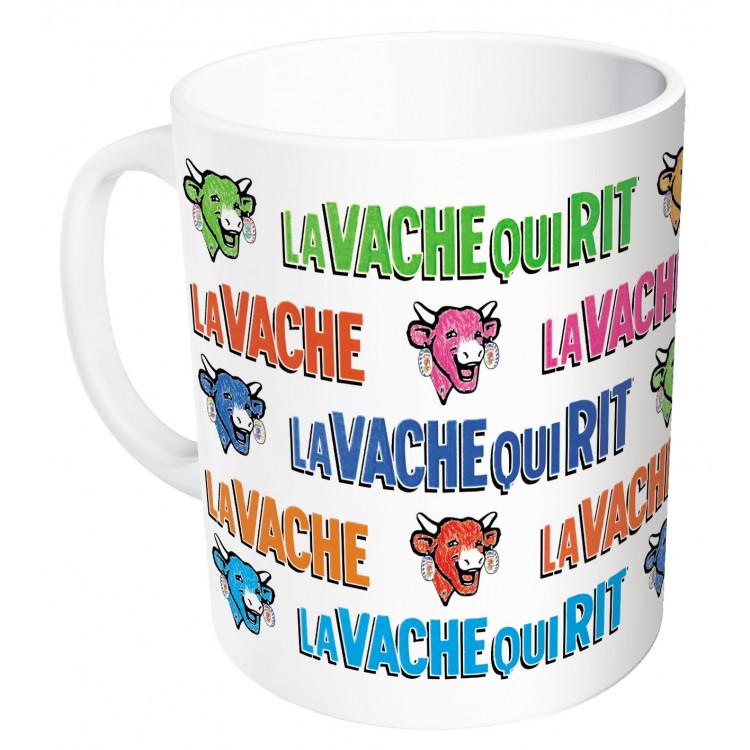 Mug La vache qui rit® têtes et nom colorés