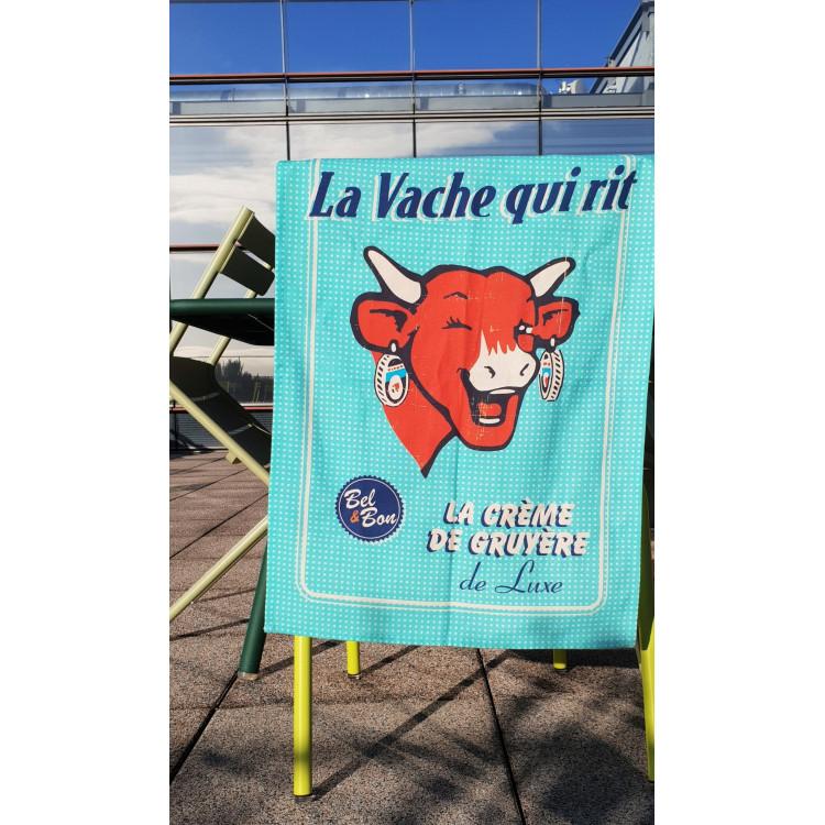 Torchon COUCKE x La vache qui rit® Rétro menthe à l'eau