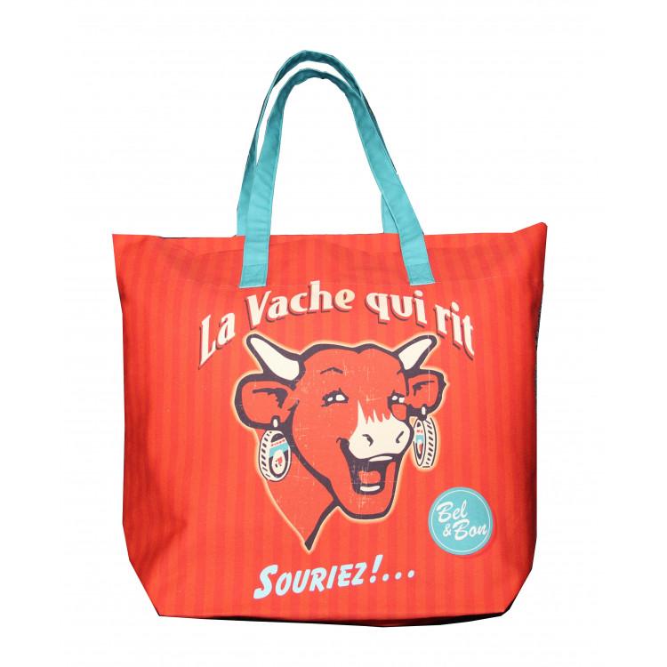 Shopping bag COUCKE x La vache qui rit® Rétro rouge