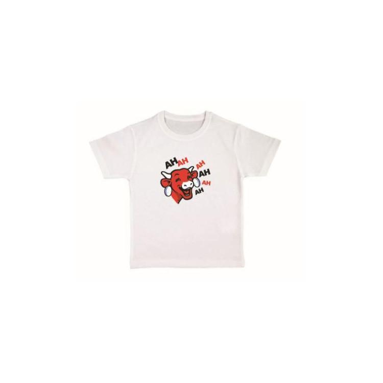 """Tee-shirt Enfant Blanc """"Ah Ah Ah"""" La vache qui rit®"""