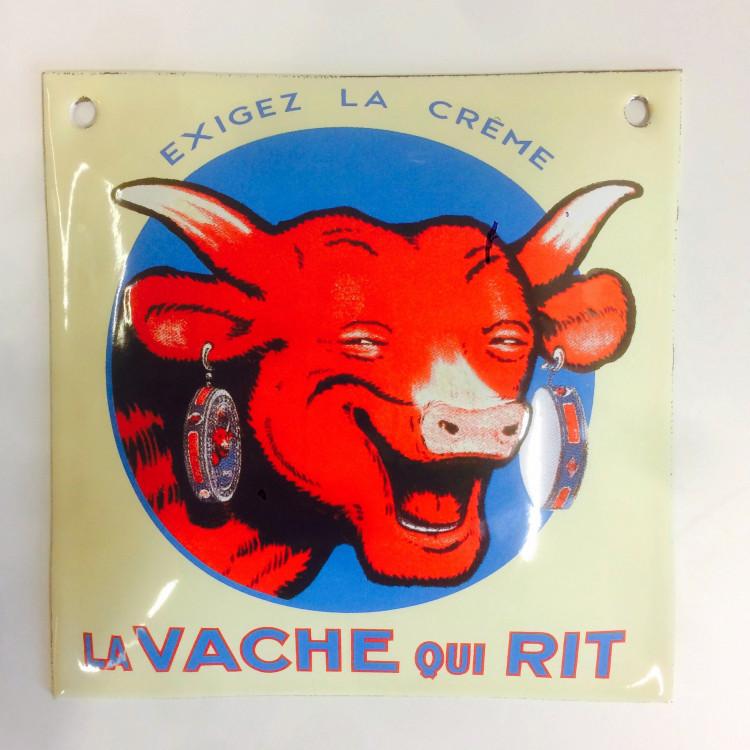 Plaque émaillée bombée La vache qui rit® - 15x15 cm