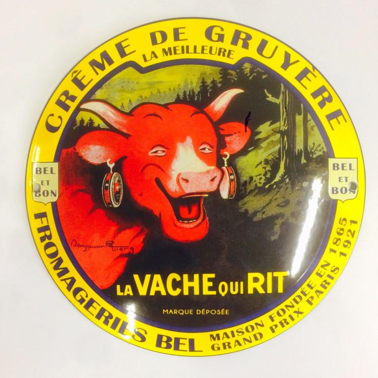 Plaque émaillée bombée La vache qui rit® - 25 cm