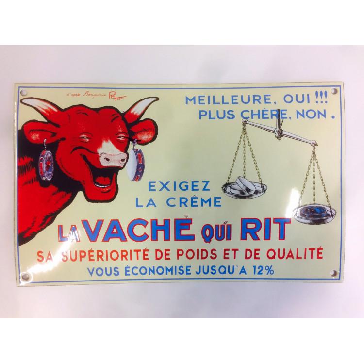 Plaque émaillée bombée La vache qui rit® - 34 x 21 cm