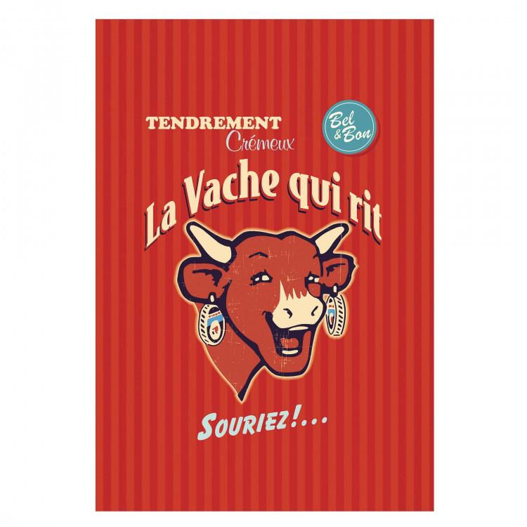 Torchon COUCKE x La vache qui rit® Rétro rouge