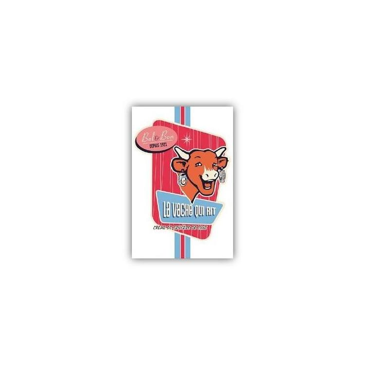 Carte postale  La vache qui rit® Vintage rose vertical