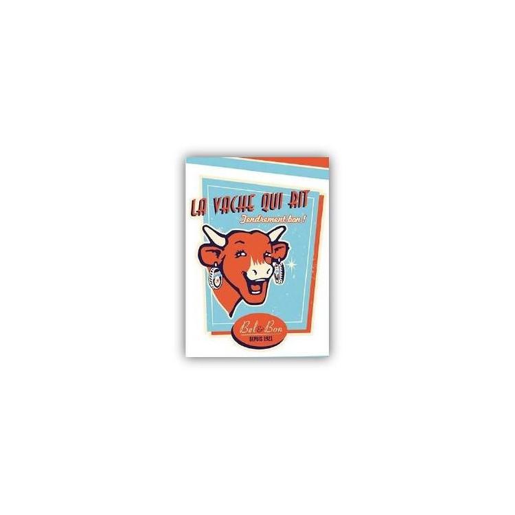 Carte postale La vache qui rit® Vintage Bleu