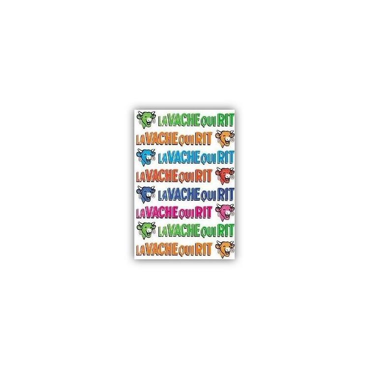 Carte postale  La vache qui rit® Têtes et noms colorés