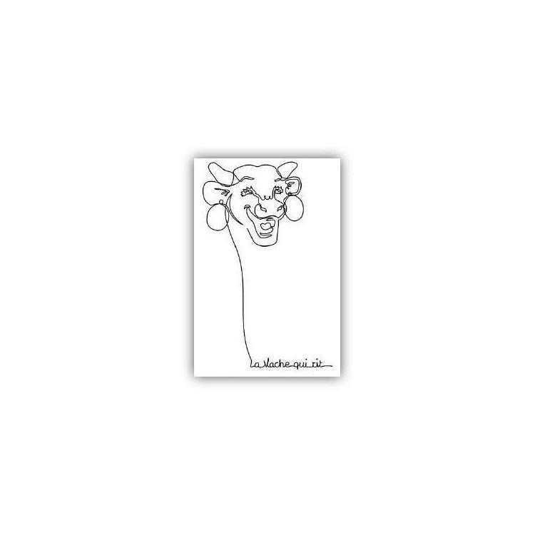 Carte postale  La vache qui rit® Linéaire
