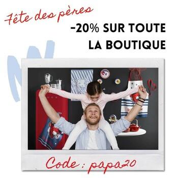 [20% de réduction avec le code PAPA20]  A l'occasion de la fête des pères, profitez de 20% de réduction sur toute la boutique en ligne !  Lien dans la bio ☺️  Offre valable du 7 au 11 juin, dans la limite des stocks disponibles